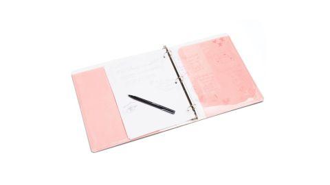 Blush 1-Inch Pocket Binder