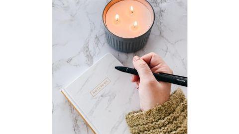 DesignWorks Ink Lined Journal Marble With Gold Foil