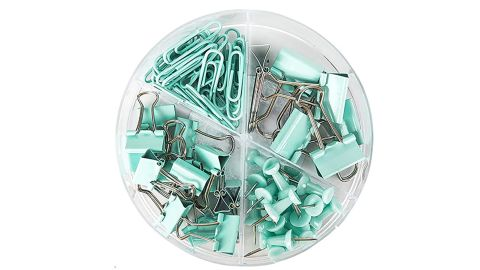 Paper Clips, Pushpins and Binder Clip Set