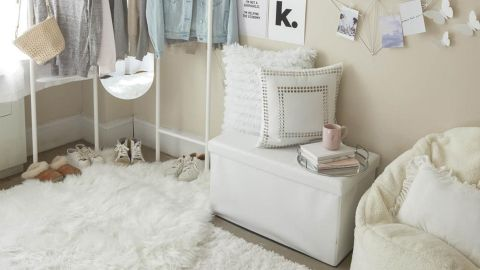 Dormify Collapsible Storage Ottoman Bench