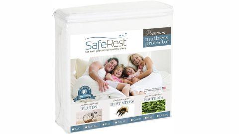 SafeRest Twin Extra-Long Premium Hypoallergenic Waterproof Mattress Protector