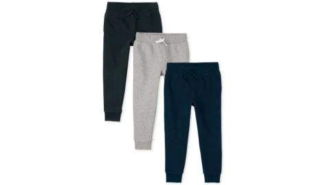Boys' Uniform Fleece Jogger Pants, 3-Pack