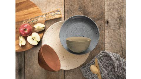 Sango Siterra Painter's Palette 16-Piece Dinnerware Set for 4