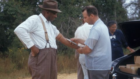 Μια φωτογραφία χωρίς ημερομηνία δείχνει έναν συμμετέχοντα στη μελέτη Tuskegee.