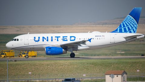 In this July 2, 2021 file photo, a United Airlines jetliner taxis down a runway for take off from Denver International Airport in Denver.  United Airlines will require U.S.-based employees to be vaccinated against COVID-19 by late October, and maybe sooner. United announced the decision Friday, Aug. 6.
