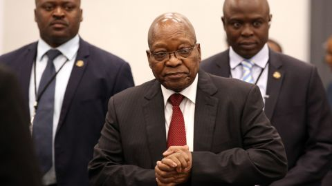 Zuma arrives to appear before the Commission of Inquiry into State Capture, which was probing wide-ranging allegations of corruption in government and state-owned companies, in July 2019.