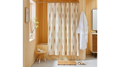 Oval Ikat Shower Curtain