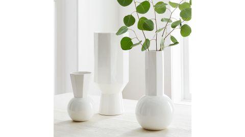 White Porcelain Urn Vases