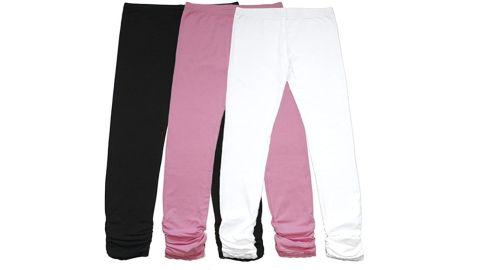 Bienzoe Girl's Cotton Leggings, 3-Pack