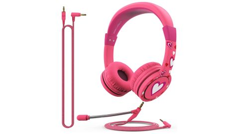 FosPower Kids' Headphones With Microphone and 3.5mm Detachable Cables