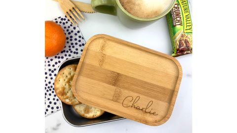 Bamboo and Metal Lunch Box