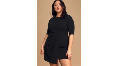 Lulus Westwood Black Half-Sleeve Sheath Dress