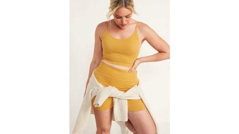 Rib-Knit Seamless Cami Bra for Women
