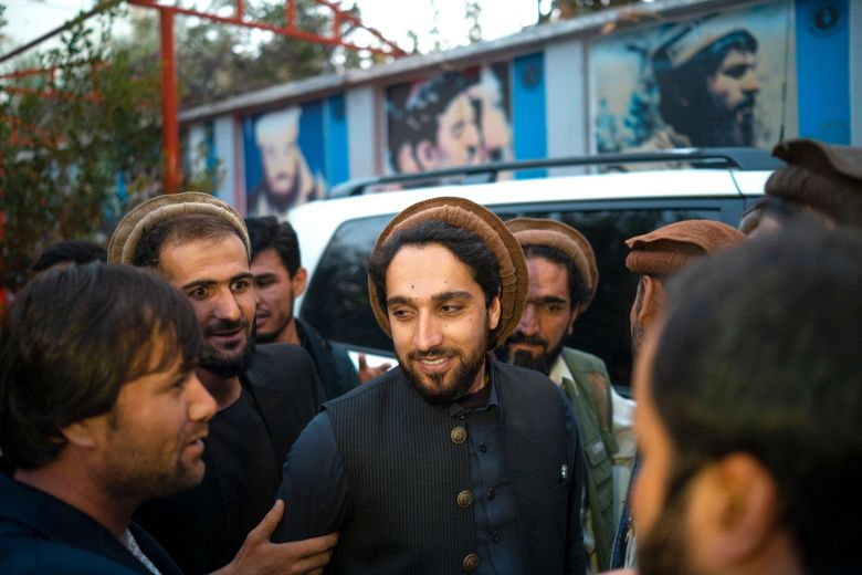 KABUL, AFGHANISTAN - SEPTEMBER 15, 2019 : Ahmad Massoud, center, speaks with a young afghan on the street on September 15, 2019 in Kabul,Afghanistan. Ahmad Massoud,Son of Ahmad Shah Massoud has launched an initiative to build a anti Taliban coalition to bring peace to the nation. (Photo by Reza/Getty Images)