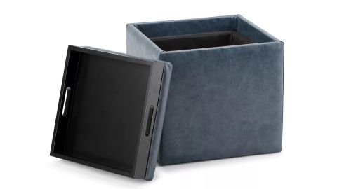 WyndenHall 17-Inch Townsend Cube Storage Ottoman With Tray