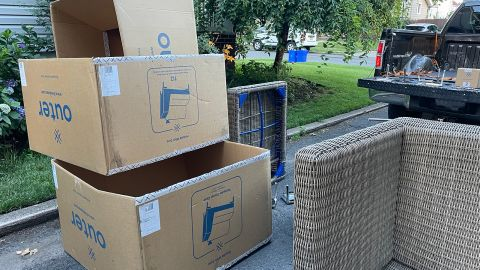 Delivery of the Outer sofa.