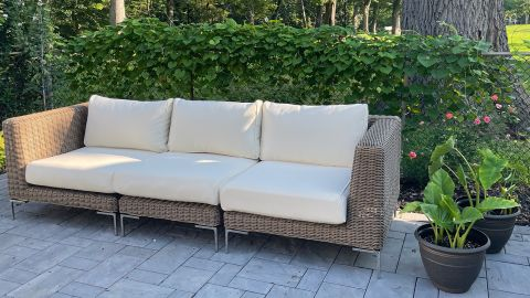 The Wicker Outer Sofa.