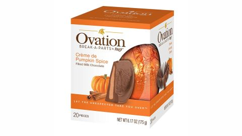 Ovation Chocolate Break-A-Parts- Milk Chocolate with Pumpkin Spice Filling