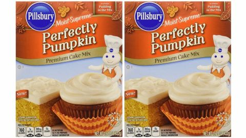 Pillsbury Moist Supreme Perfectly Pumpkin Premium Cake Mix, 2-Pack