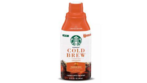 Starbucks Pumpkin Spice Latte Light Roast Cold Brew Coffee Concentrate