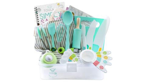 Tovla Jr. Kids' Cooking and Baking Gift Set With Storage Case