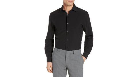 W.R.K. Trim Fit Solid Performance Stretch Dress Shirt