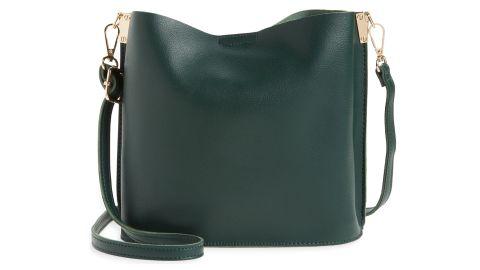 Street Level Faux Leather Crossbody Bag