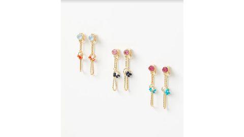 Beaded Chain Drop Earring Set