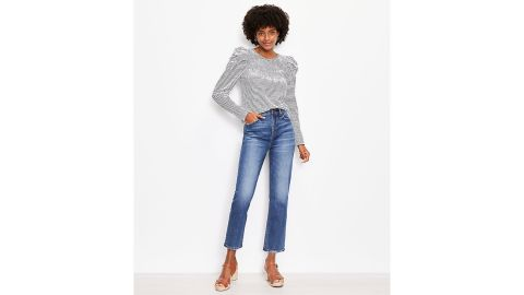 High-Rise Straight Crop Jeans