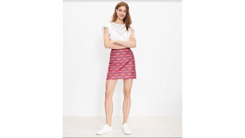 Ikat Jacquard Mini Skirt