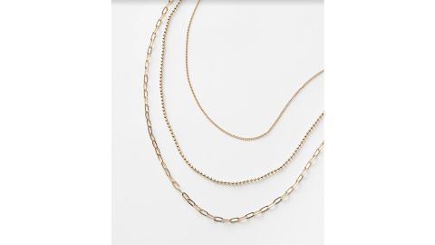Layered Delicate Chain Necklace