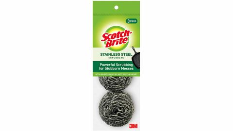 Scotch-Brite Stainless Steel Scrubbers, 3-Pack
