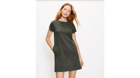 Leopard Print Sweatshirt Pocket Dress