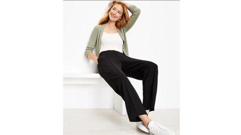 Pintucked Tapered Pants