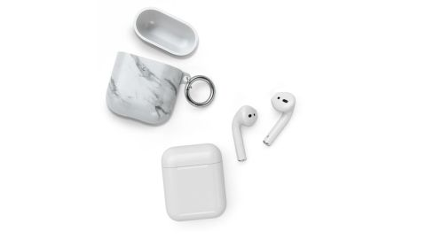 Classic White Marble AirPods Pro Case