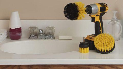 Drill Brush Power Scrubbers