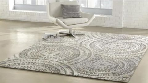 StyleWell Spiral 7-Foot-by-9-Foot Geometric Medallion Area Rug