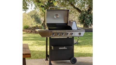 Nexgrill 5-Burner Propane Gas Grill With Side Burner and Condiment Rack