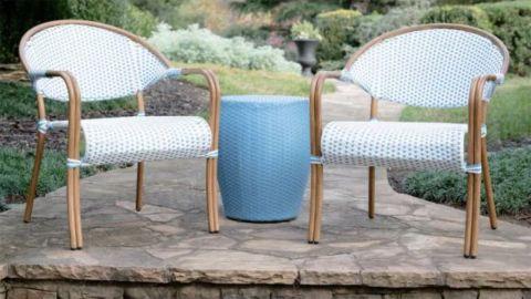 Leisure Made Monticello 3-Piece Wicker Outdoor Bistro Set