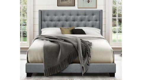 Aadvik Tufted Upholstered Low-Profile Standard Bed