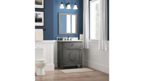 Allen + Roth Whitney Antique Gray Undermount Single Sink Bathroom Vanity