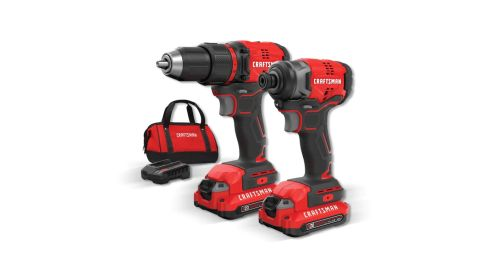 Craftsman V20 2-Tool 20-Volt Max Brushless Power Tool Combo Kit With Case