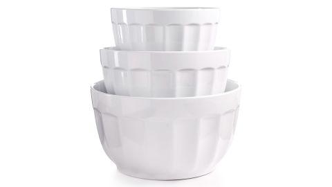 Martha Stewart Collection Set of 3 Fluted Melamine Bowls