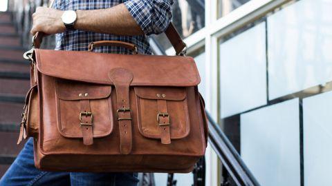 Komal's Passion Leather Messenger Bag