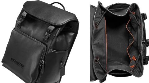 Coach League Leather Backpack