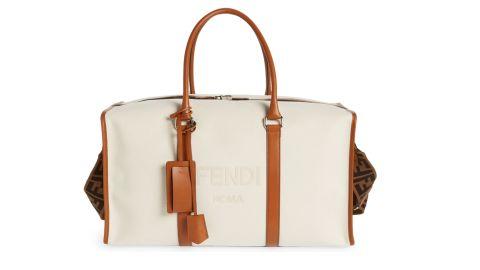 Fendi Logo Canvas Duffel Bag