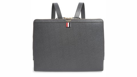 Thom Browne Document Holder Leather Backpack