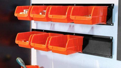 Wallmaster 8-Bin Storage Bins Garage Rack System