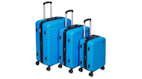Amazon Basics 3-Piece Hardside Spinner Travel Luggage Suitcase Set