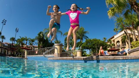 Enjoy family-friendly poolside activities at the Signia by Hilton Orlando Bonnet Creek.